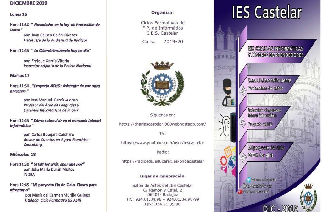 «XIV Charlas sobre informática y Jóvenes Emprendedores 2019»