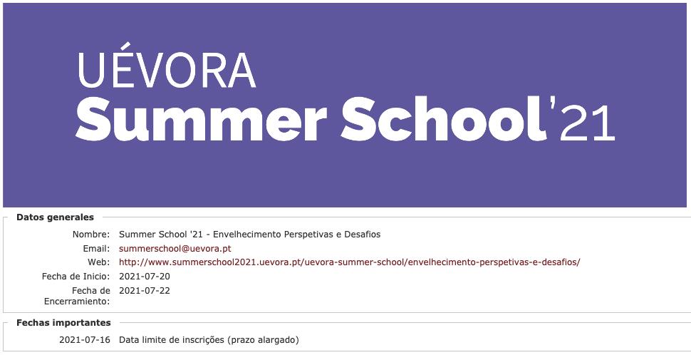 Abiertas las inscripciones para la Summer School 2021
